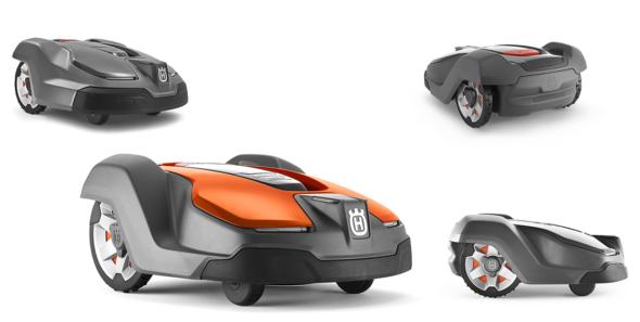 Automower® 430X har en rekkevidde på opp til 3200 m2. Den har også litt større klippebredde (24 vs 22 cm) og takler litt større hellinger (24 vs 22 grader) enn lillebror 315X. Foto: Husqvarna